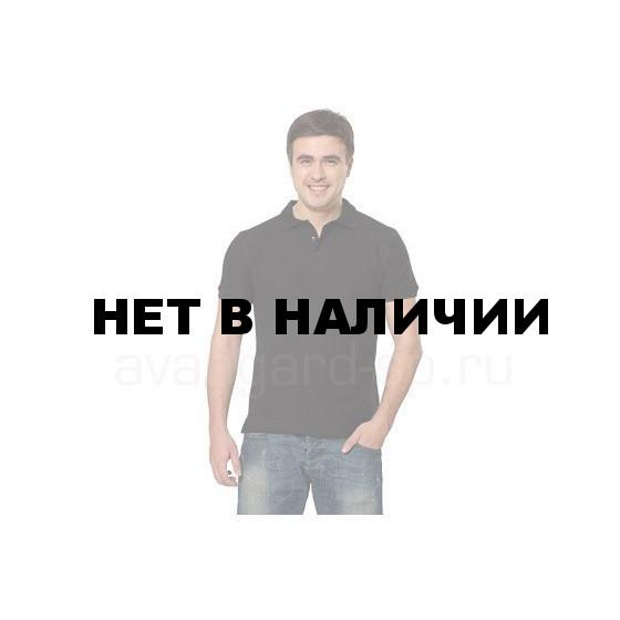 Рубашка-поло с манжетами, 200 г/м.кв., 100% хлопок (цв.черный) СЗ