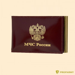 Обложка МЧС КУ-4 шик красная