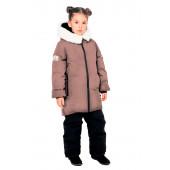 Куртка пуховая для девочки BASK kids TITANIA бежевая