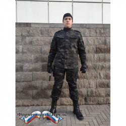 Костюм летний НАТО с прямыми карманами длинный рукав(цвет черный мультикам, ткань рип-стоп 240)