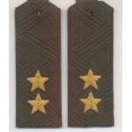 Погоны МО генерал-лейтенант с хлястиком повседневные
