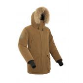 Куртка пуховая мужская BASK ALKOR светло-коричневая
