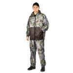 Костюм флисовый ПИКНИК куртка/брюки, цвет:, камуфляж смешанный лес/коричневый