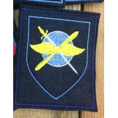 Нашивка на рукав с липучкой 800 авиабаза Чкаловский 300 приказ фон синий голубой кант вышивка шелк