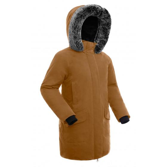 Куртка пуховая женская BASK ISIDA светло-коричневая