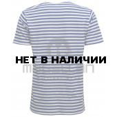 Тельняшка-футболка ВМФ синяя полоска (хлопок+эластан)