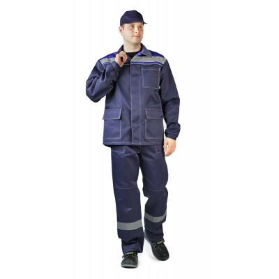 Костюм Ударник куртка/брюки темно-синий/василёк