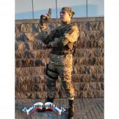 Костюм летний НАТО с прямыми карманами длинный рукав(цвет мультикам, ткань рип-стоп 240)