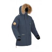 Мужская пуховая куртка-парка Баск TAIMYR темно-синяя