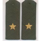 Погоны Росгвардия (ВВ МВД) генерал-майора с хлястиком повседневные