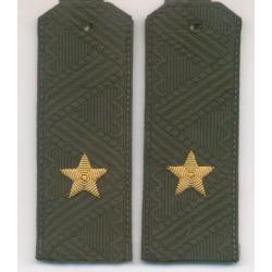 Погоны МО генерал-майор с хлястиком повседневные