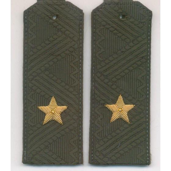 Погоны генерал-майор ВВ МВД с хлястиком повседневные