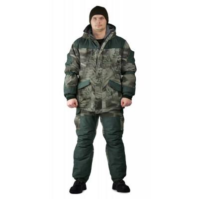 Костюм зимний ГЕРКОН куртка/брюки, цвет:, камуфляж смог/т.олива, ткань : Алова/Финляндия
