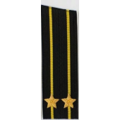 Погоны ВМФ вышитые Капитан 2 ранга повседневные на китель со скосом
