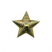 Звезда 13 мм рифленая золото (металл) ФМ-161