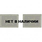 Эмблема петличная с липучкой РВСН нового образца полевая вышивка шелк