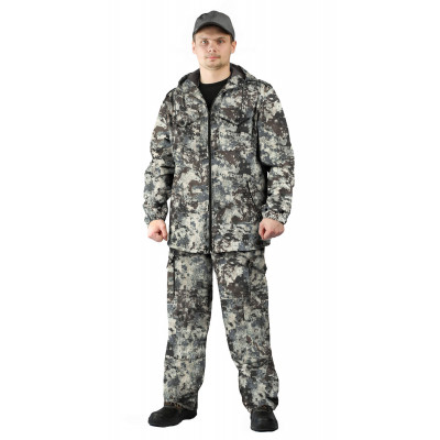Костюм ТУРИСТ 2 куртка/брюки цвет:, камуфляж Сетка серый, ткань : Твил Пич