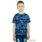 Футболка детская Navy Blue Camo короткий рукав