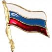Миниатюрный знак Флажок РФ на булавке металл