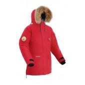 Мужская пуховая куртка-парка BASK TAIMYR красная