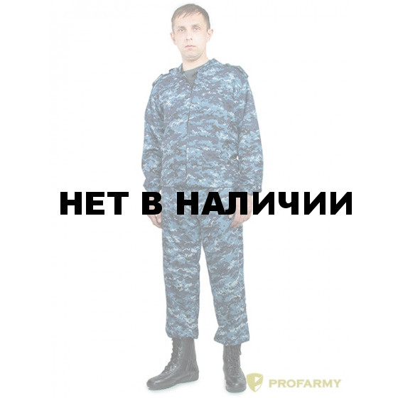 Костюм КЗМ-4 рип стоп 170 синяя цифра