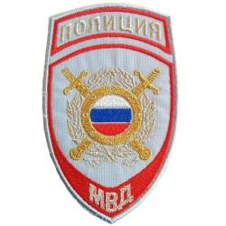 Нашивка на рукав Полиция Подразделения охраны общественного порядка МВД на рубашку люрекс