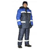 Костюм зимний СКАНДИН-СОП куртка/полукомб. цвет: т.синий/василек