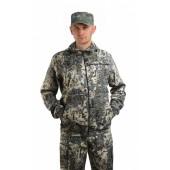 Костюм мужской Турист 1 летний, камуфляж, ткань грета Серая сетка