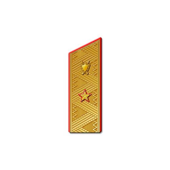 Погоны Юстиция МО генерал-майор парадные со скосом на китель золото