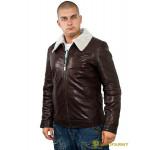 Куртка кожаная меховая 7173 Emora Brown