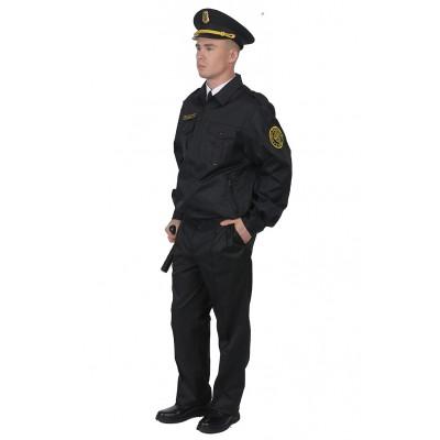 Костюм для охраны мужской б/п глянцевая смесовая 1208/1108