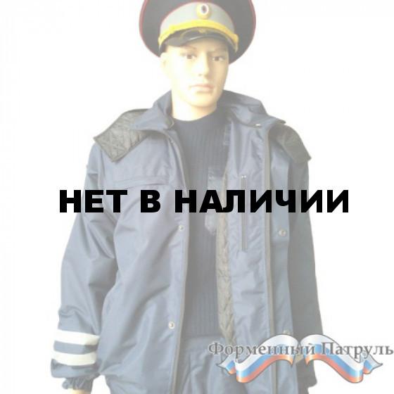 Куртка ДПС демисезонная с мех. отстег. воротом (мембрана Локер, подклад стежка 100 г/м, цвет синий)