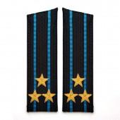 Погоны Авиация ВМФ вышитые Полковник парадные со скосом на китель люрекс