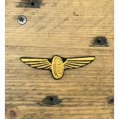 Нашивка на грудь Знак МПС синий фон вышивка шелк