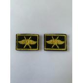 Эмблема петличная оливка кант жёлтый выш. жёлтая ВКС