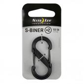 Карабин пластиковый S-Biner, NiteIze, размер 2, чёрный