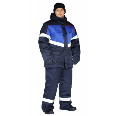 Костюм зимний ВЕКТОР-УЛЬТРА куртка/полукомбинезон темно-синий