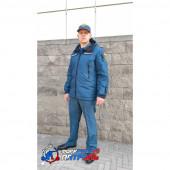 Куртка МЧС демисезонная удлиненная с шевронами вышитая спина (Морская волна, мембрана микро рип-стоп/стежка)
