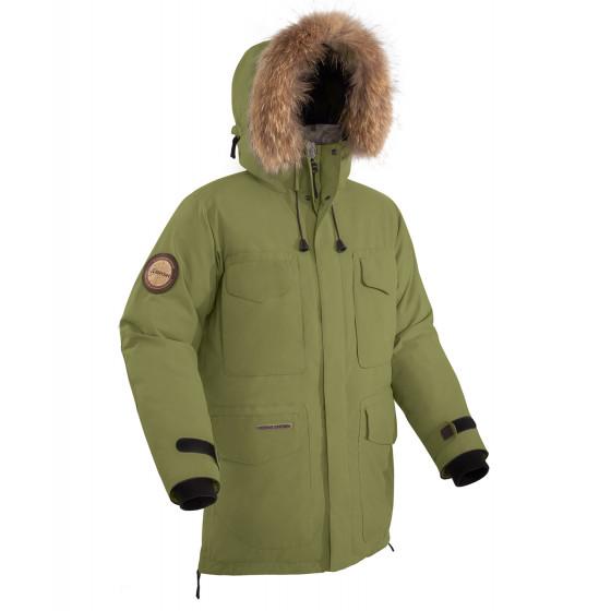 Куртка пуховая BASK TAIMYR V2 хаки светлый