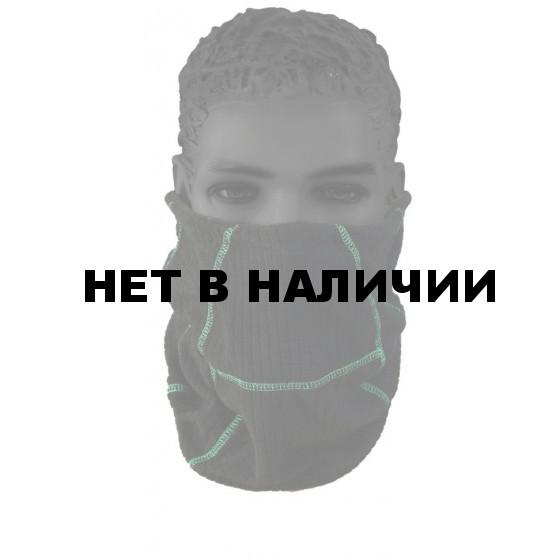 Шапка-шарф MIND, черная, флис