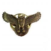 Миниатюрный знак Сова черненый металл