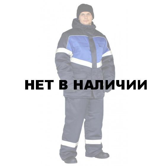 Костюм зимний ВЕКТОР куртка/полукомбинезон цвет: темно-синий/василек