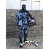 Бушлат зимний РОСГВАРДИЯ синий мох (рип стоп - мембрана /холофайбер, воротник-флис)