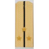 Погоны ВМФ вышитые Старший лейтенант повседневные на кремовую рубашку