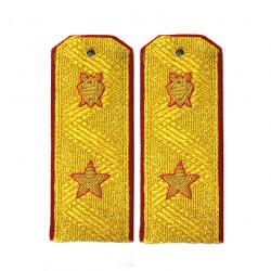 Погоны Следственный комитет генерал-майор юстиции на китель золотые метанит