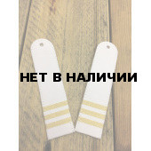 Погоны Ространснадзор с 3 лычками на рубашку белые
