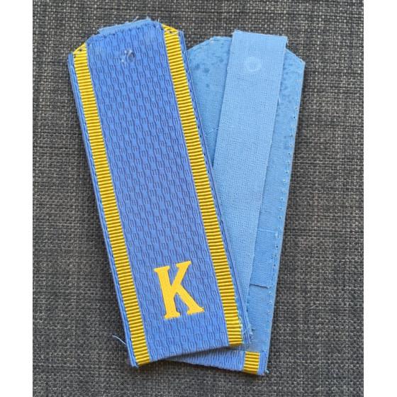 Погоны Курсант голубые с буквой К