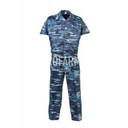 Костюм, короткий рукав, В-1 (сетка) синий камыш