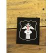 Нашивка на рукав с липучкой Департамент культуры МО 300 приказ черная вышивка белая шелк