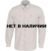 Рубашка Division серо-бежевая